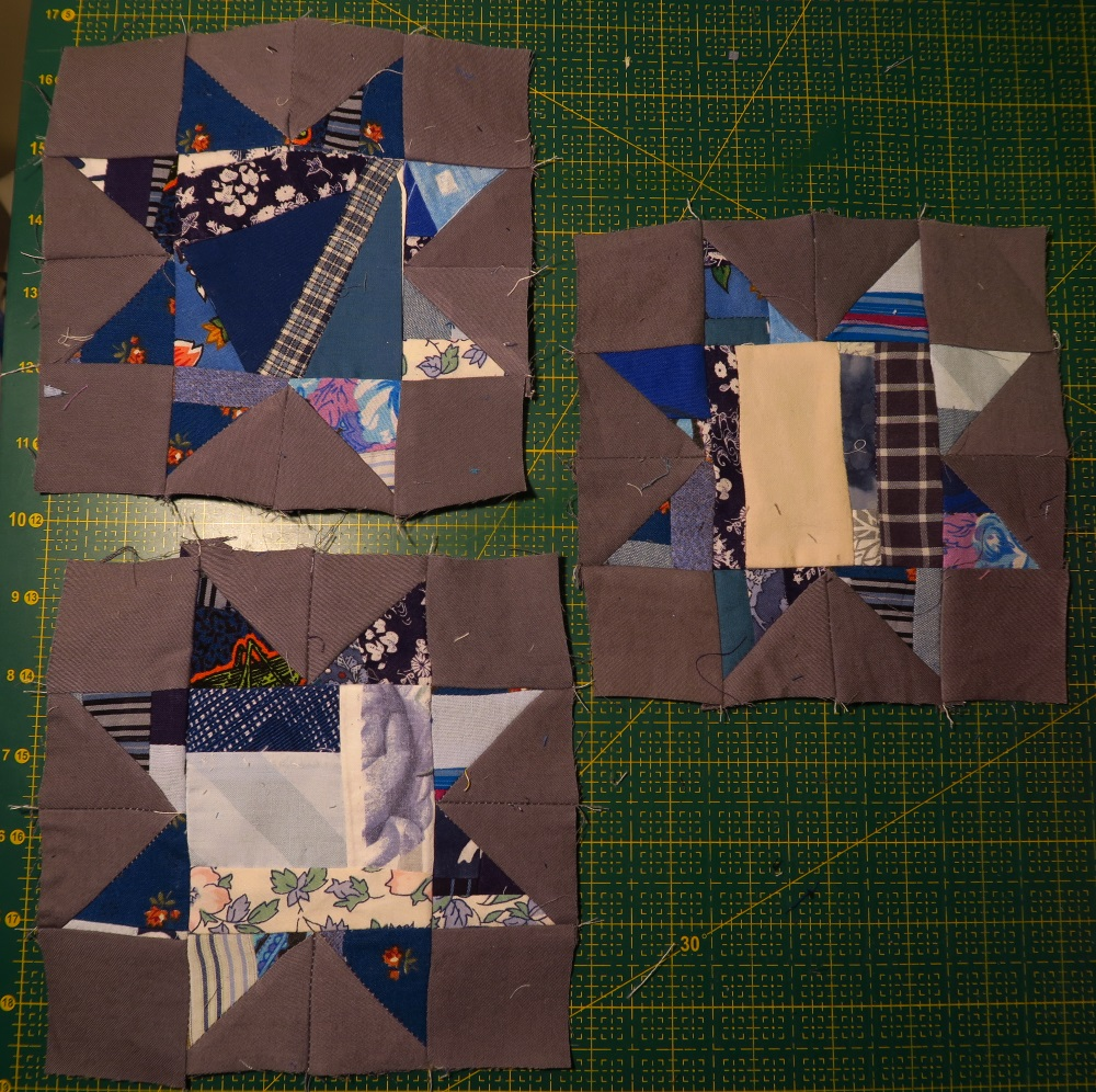 """These little stars finish at 6 1/2"""" square at this point. In the quilt they will finish at 6""""."""