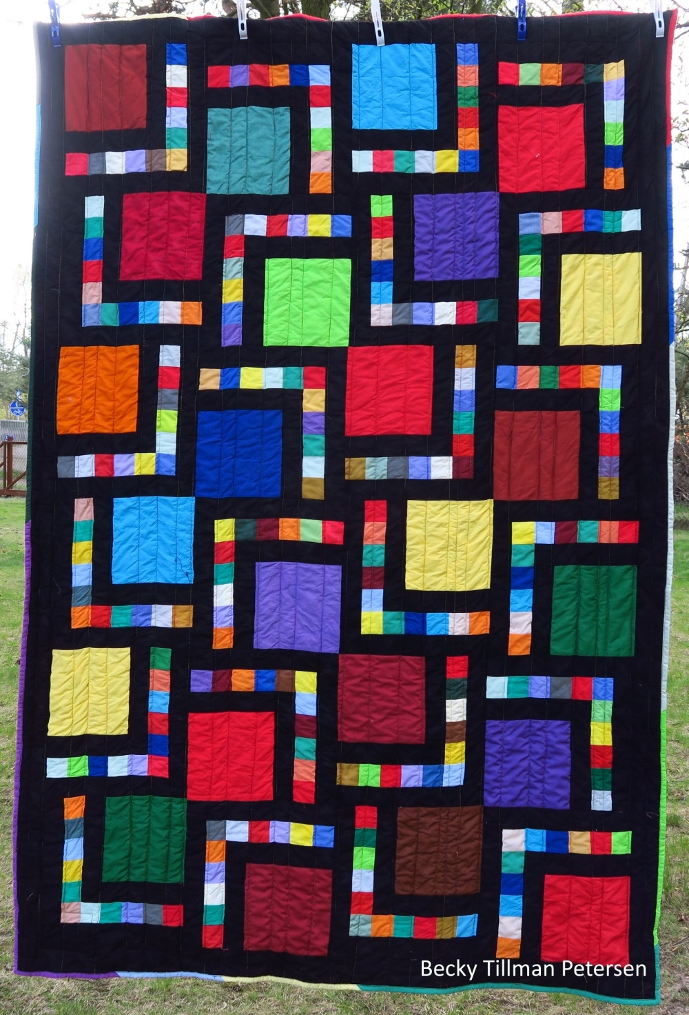 A simple but effective charity quilt - I made 7 of these a couple of years ago. They were all very quickly chosen by various recipients