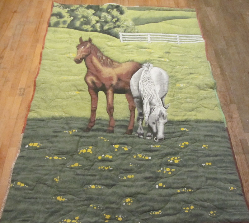These horses made a fine quilt! It was a duvet cover.