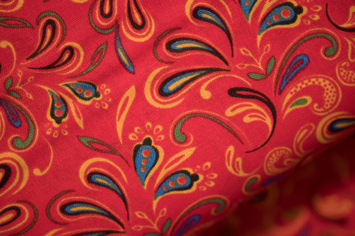 Red Mixed Fabric