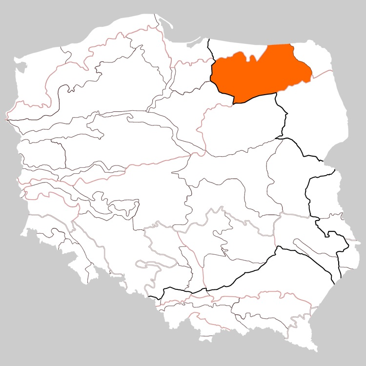 The mazura region of Poland. Image taken from  wikipedia . This link will tell you more than you want to know about this part of Poland!
