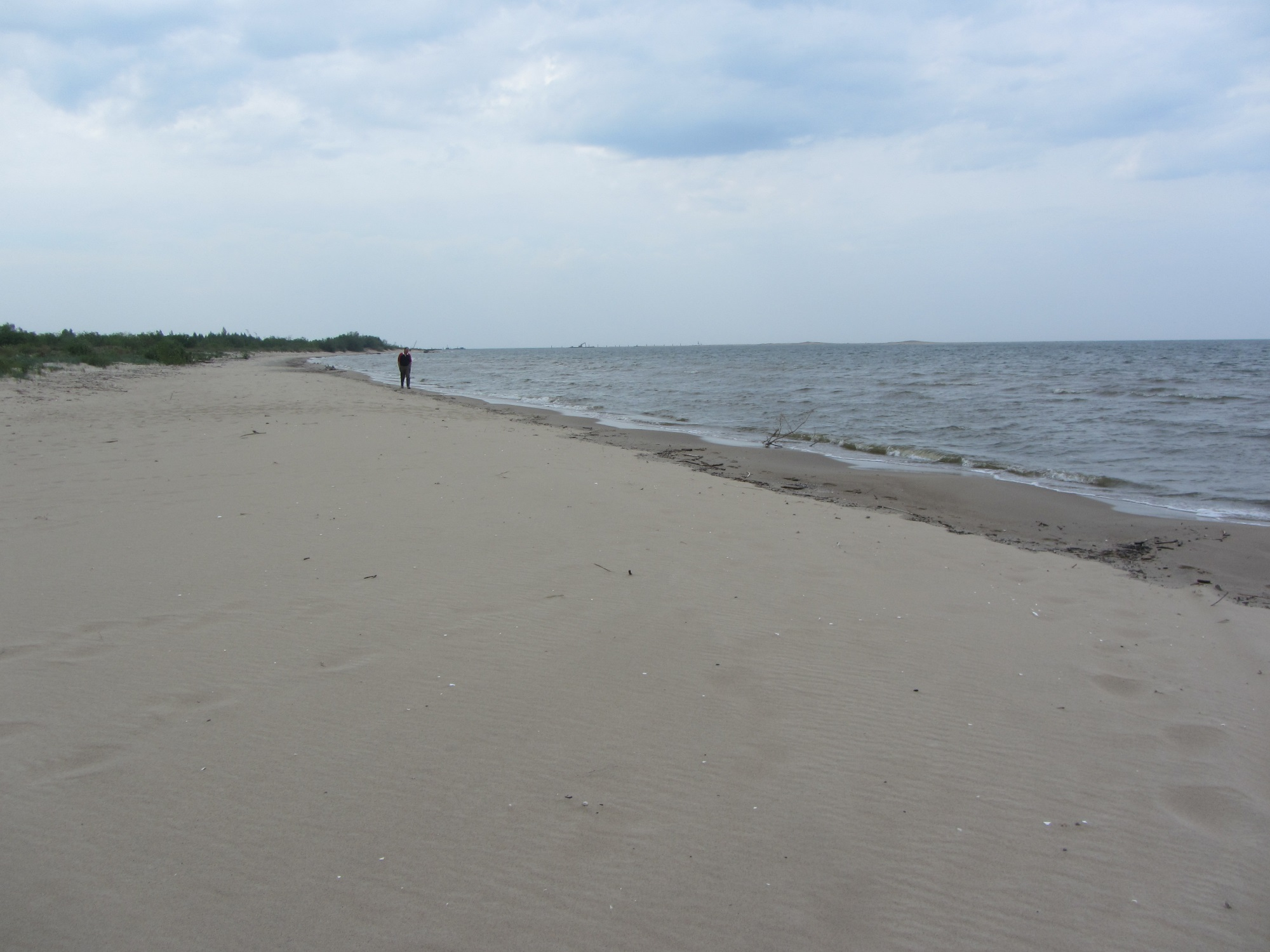 The sand at the Baltic in Poland is gray, but it's very fine!