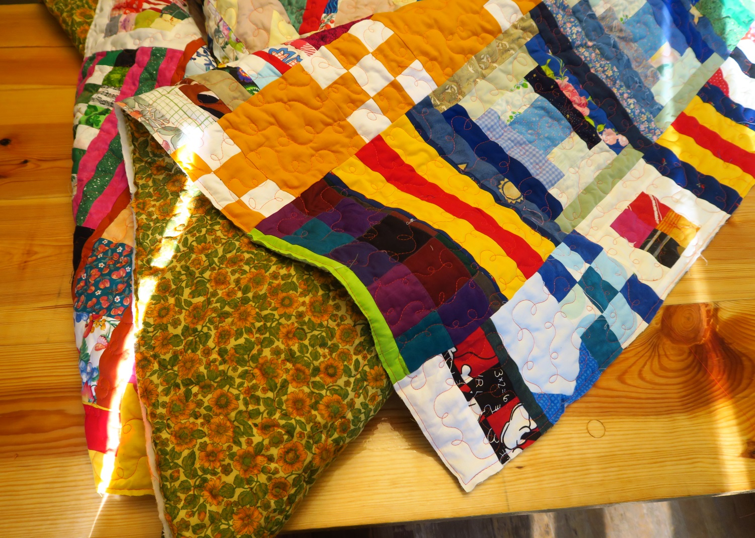 This quilt should be quilted and stitched around the edges.