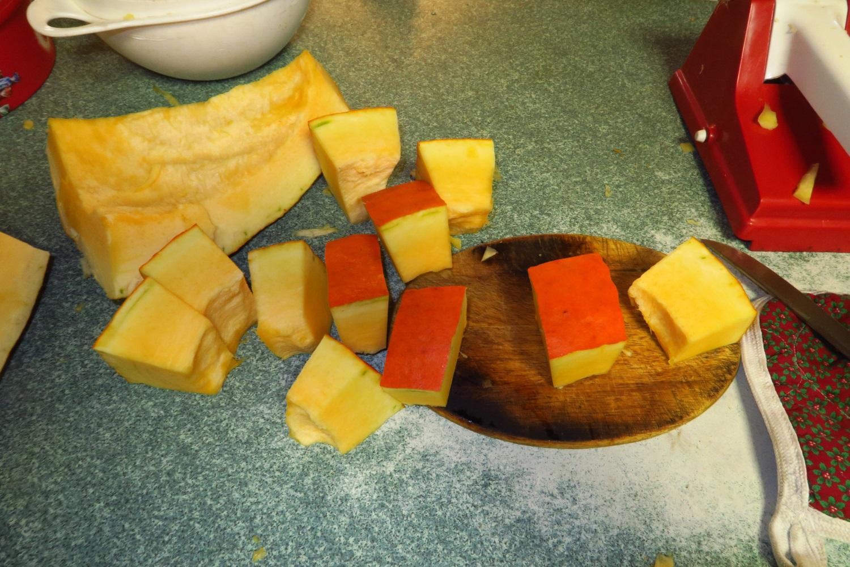 3. Cut it into chunks.