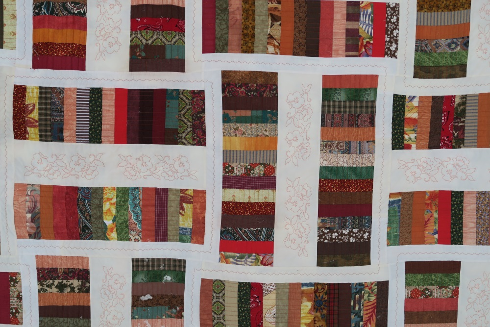 """Bronze Coins - part of  my 2"""" series of quilts."""