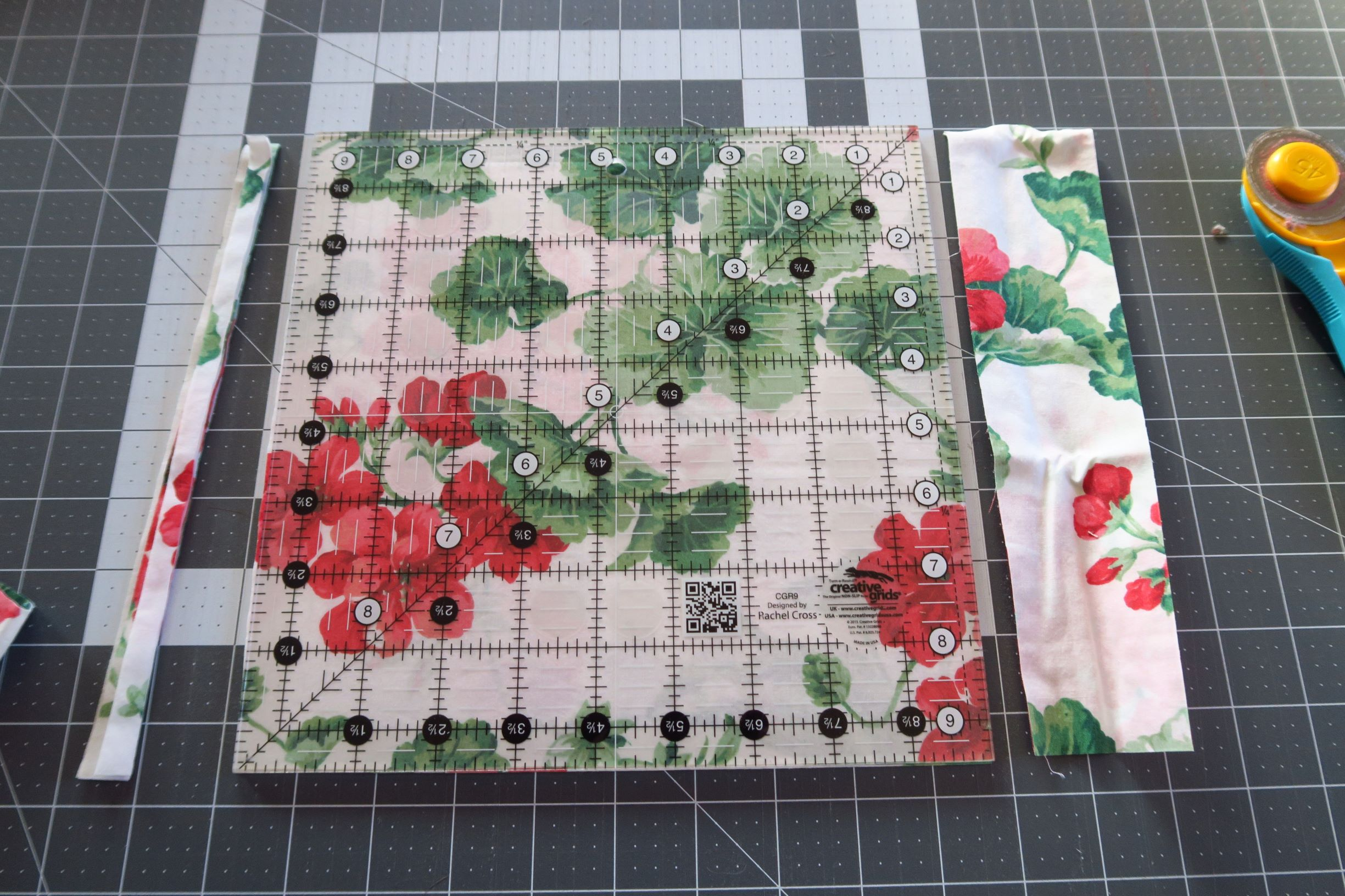 "I want to use up a lot of these florals by making them into shadow blocks using gray and black. I have so much of these floral pieces. They are fine, but not magnificent, and I'd like to get them put into quilt tops. I think this will be easy but impressive looking. I'm cutting the floral squares 9.5""."