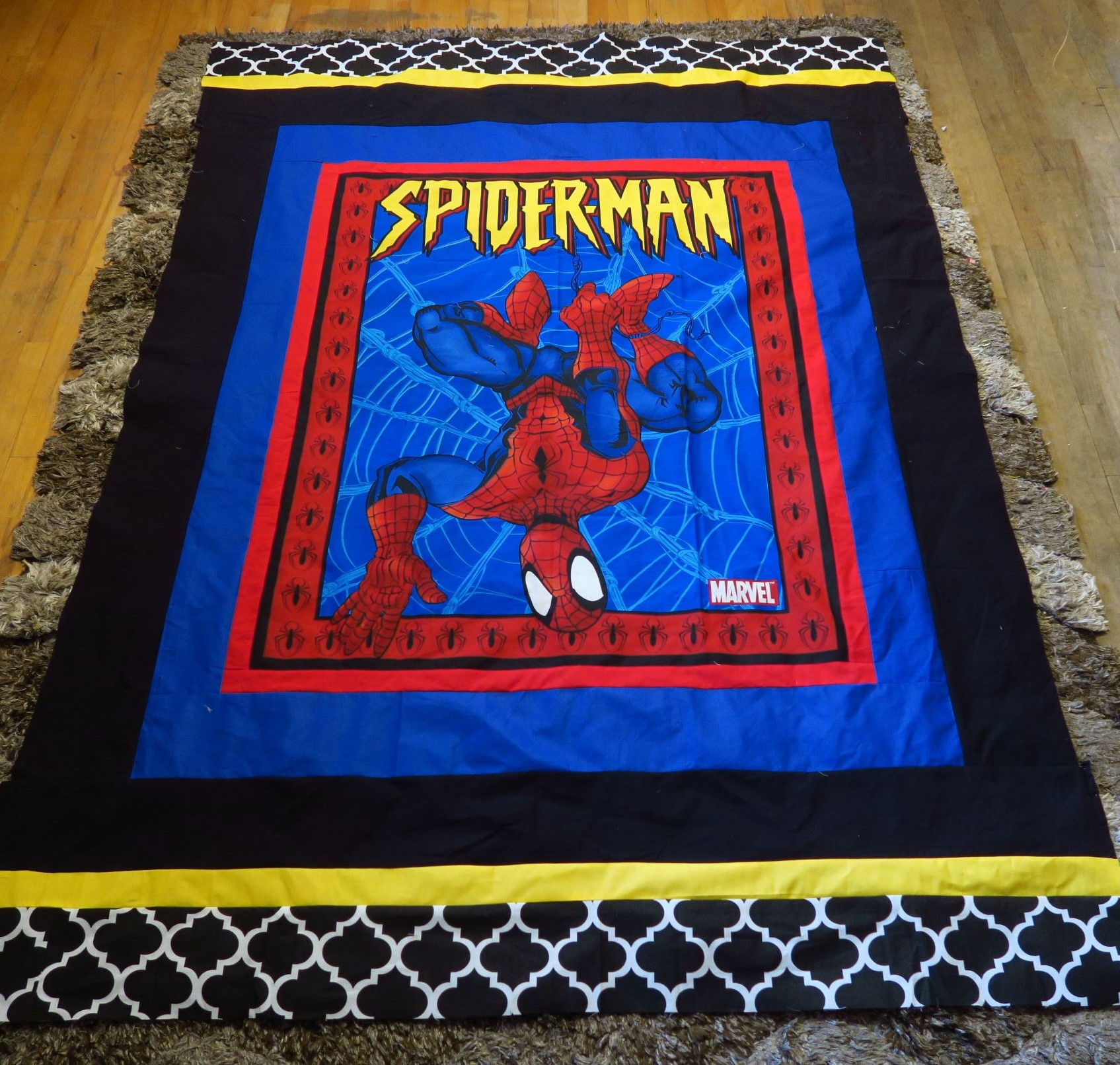 Spiderman panel. I added the borders. These ones will all go quickly. They are very popular.