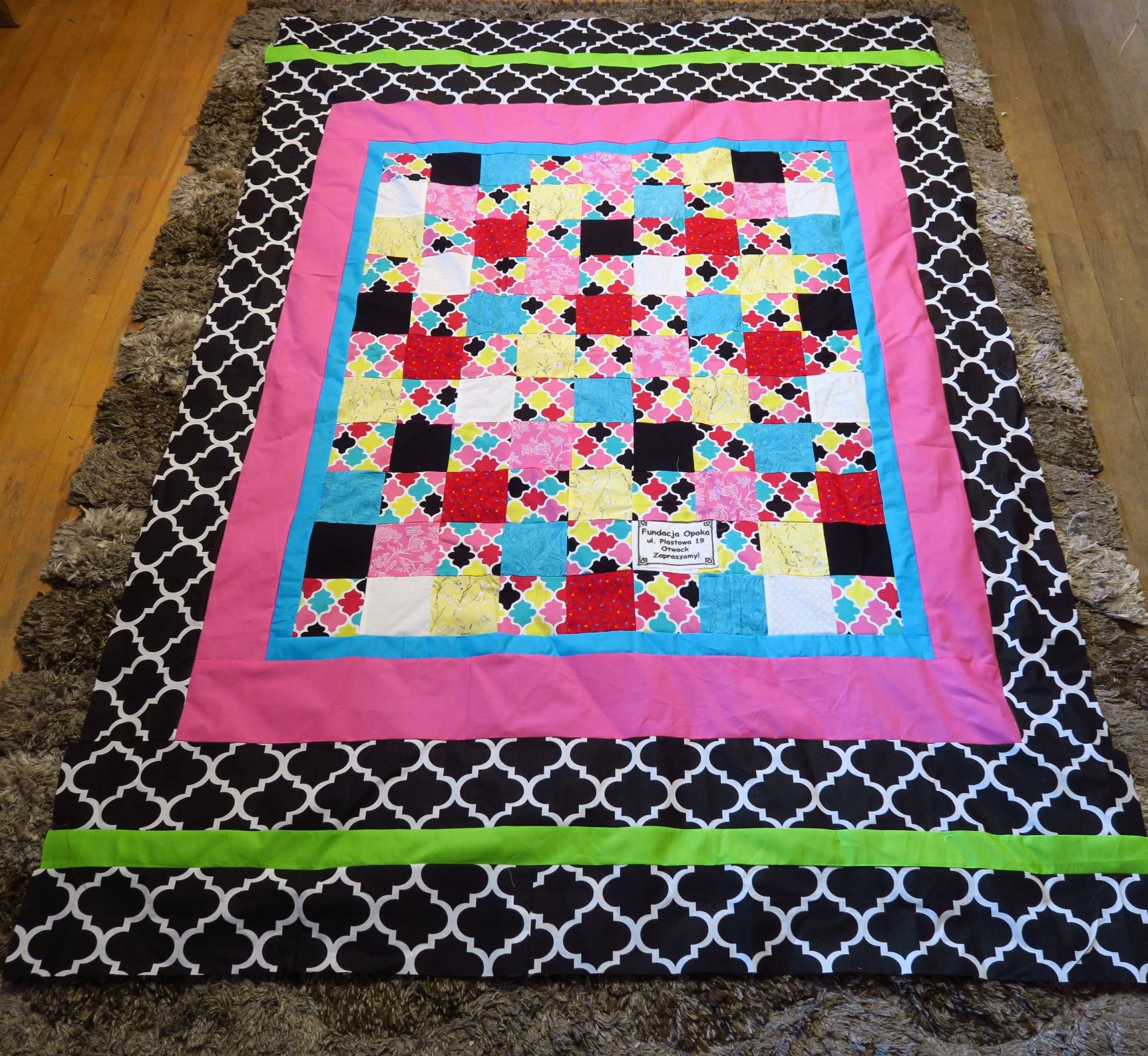 Fran made the center of the top - I added the borders