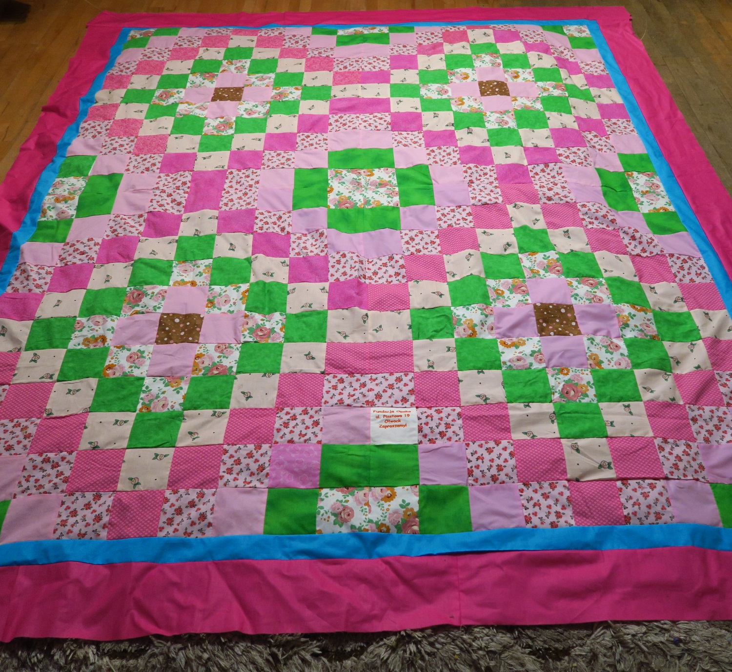 Fran made the center, I added the double border.