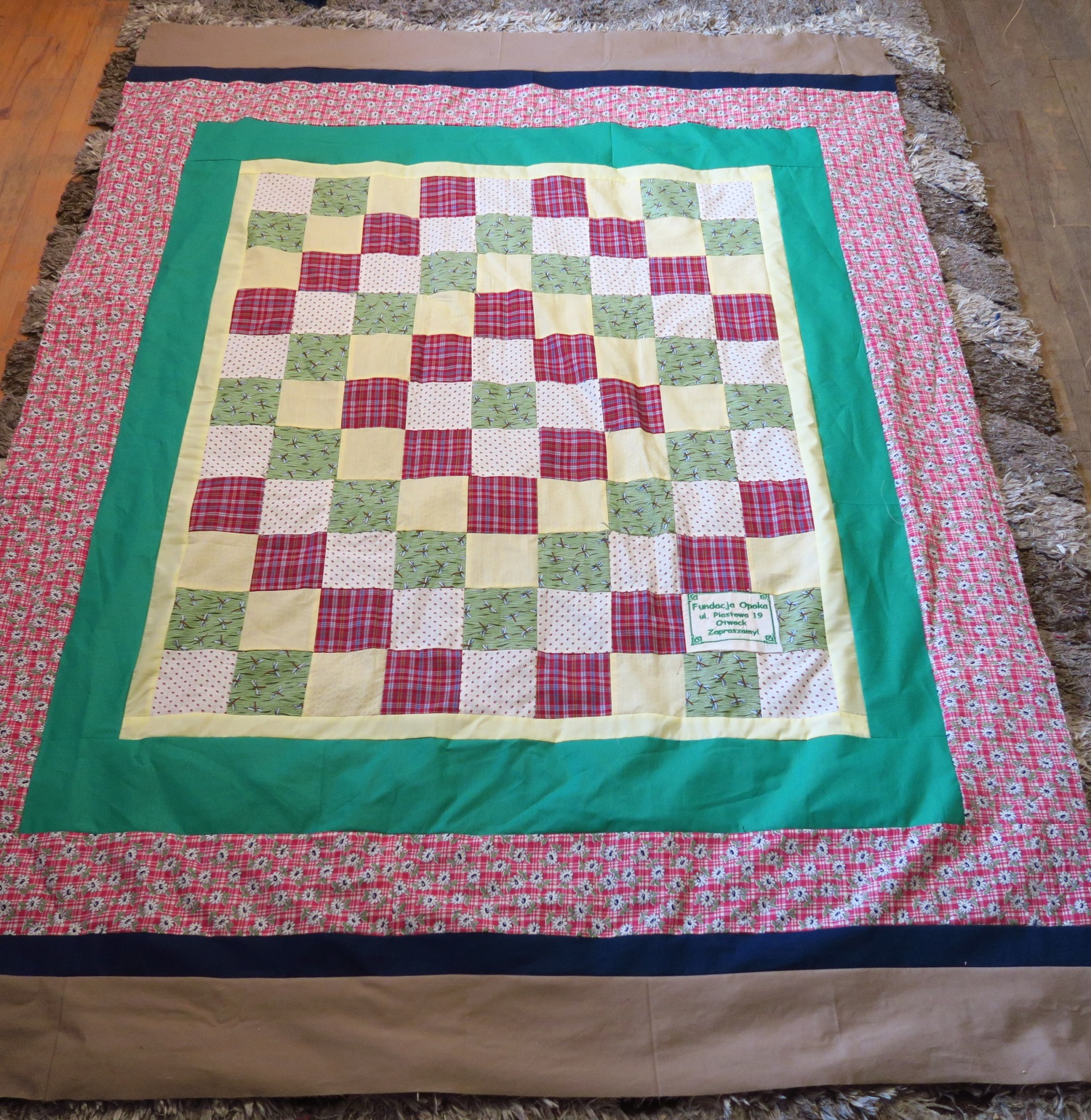Fran made the top. I added the borders.