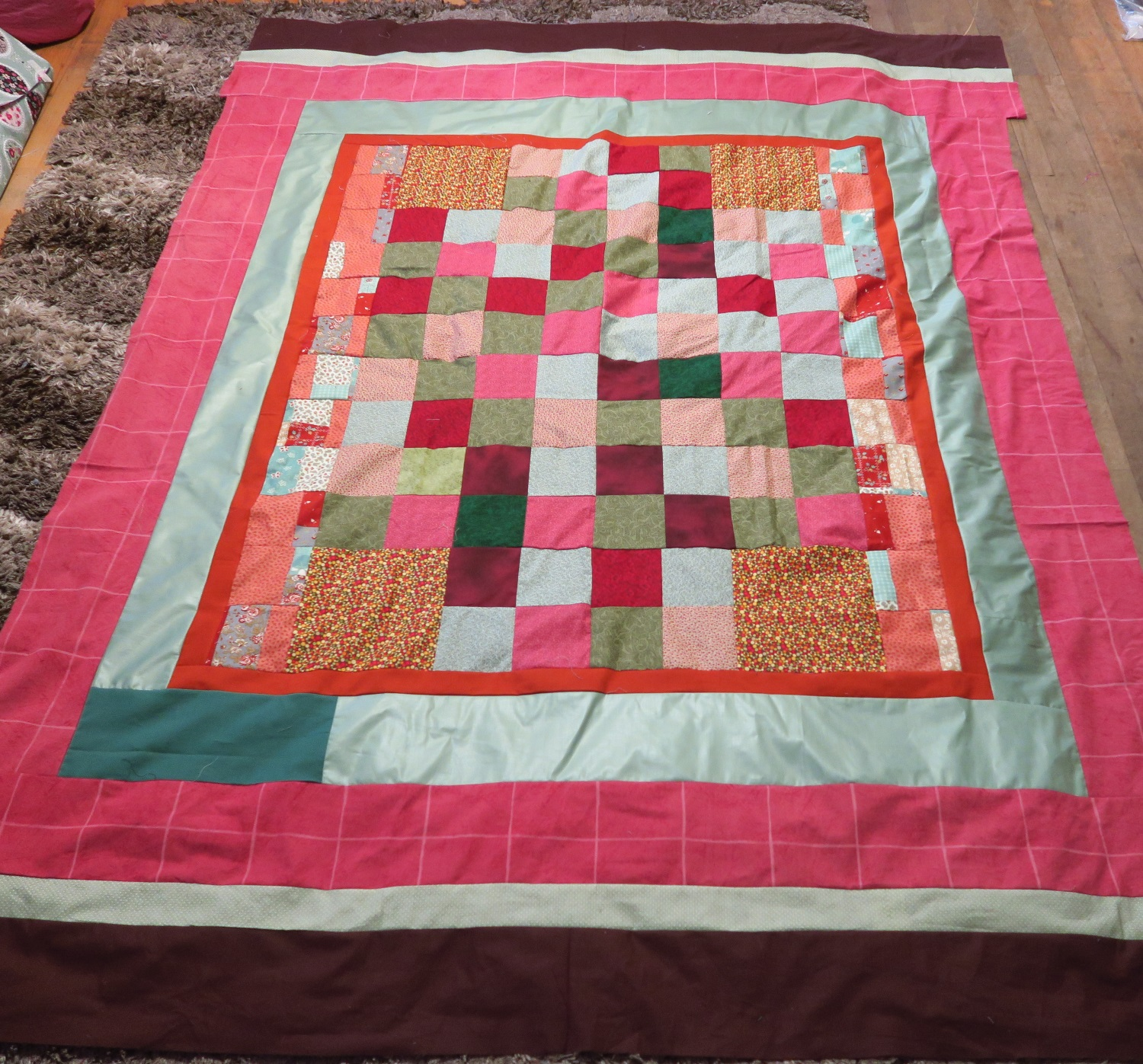 Fran made the center, I added the borders!