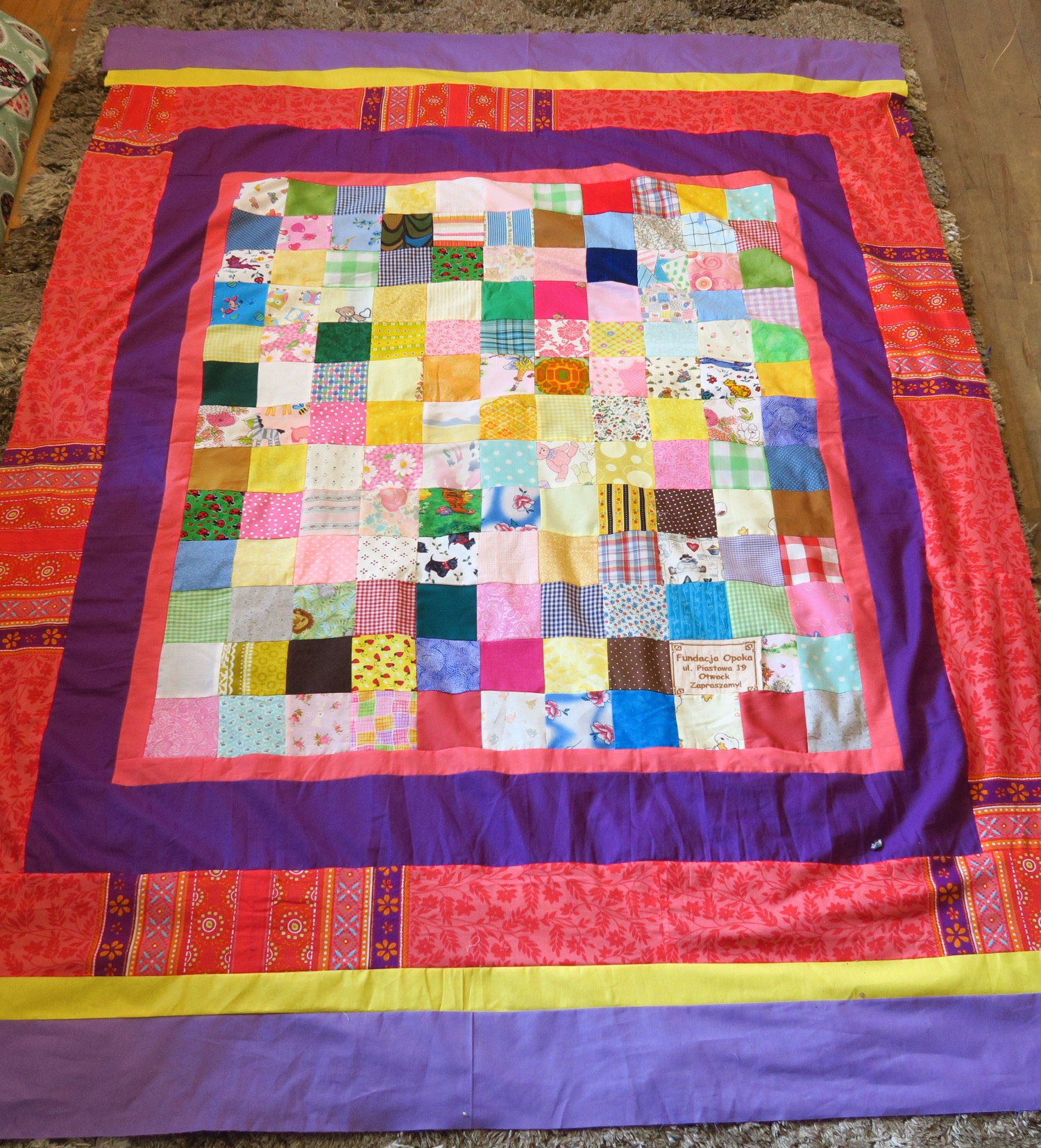 Fran made the center and I added the borders.