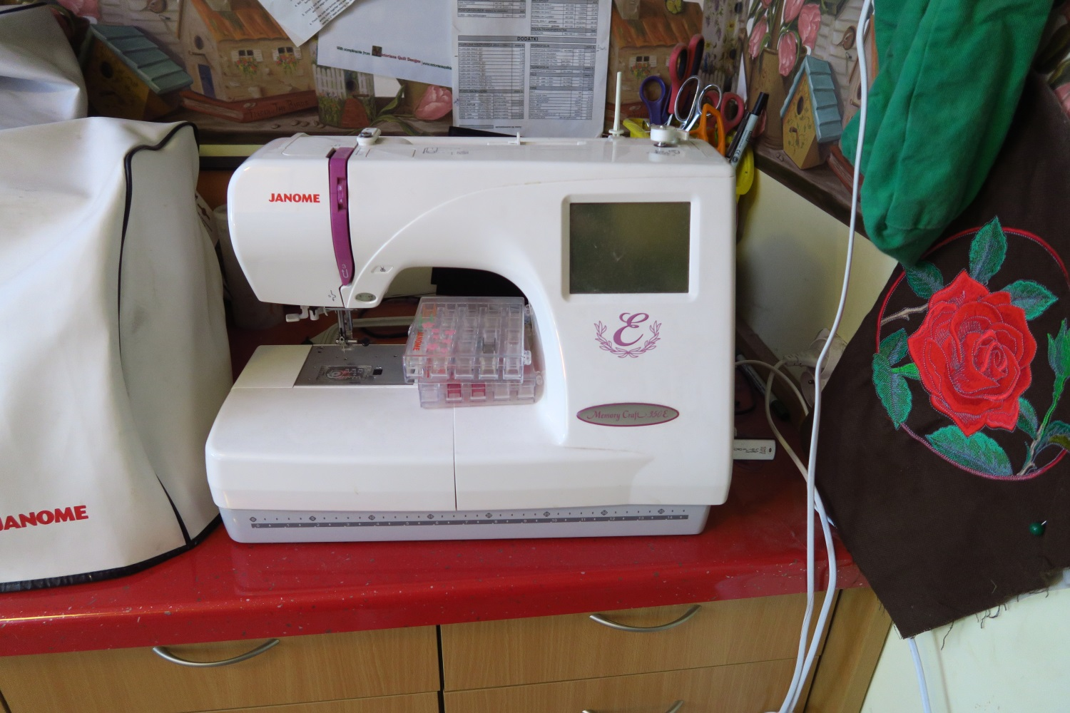 Janome 350E my first embroidery machine