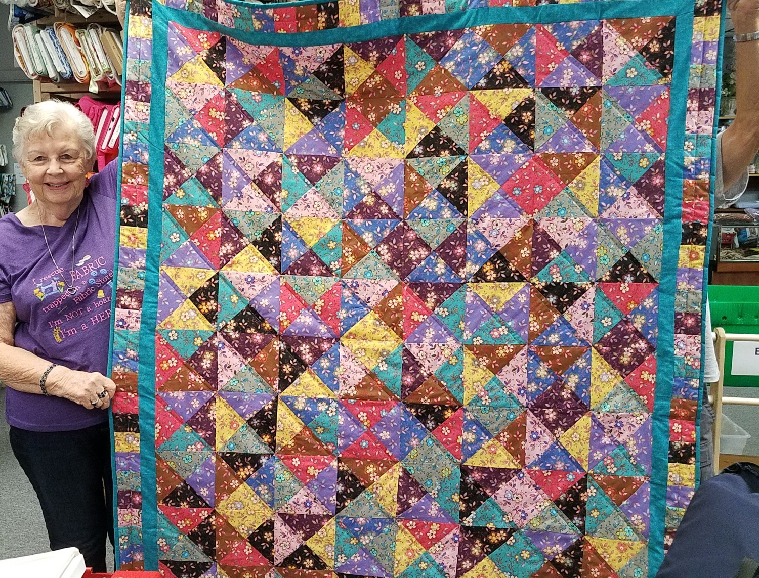 Elizabeth Neitz, of Melbourne, FL, made this beautiful quilt using our Happy Springtime pack!