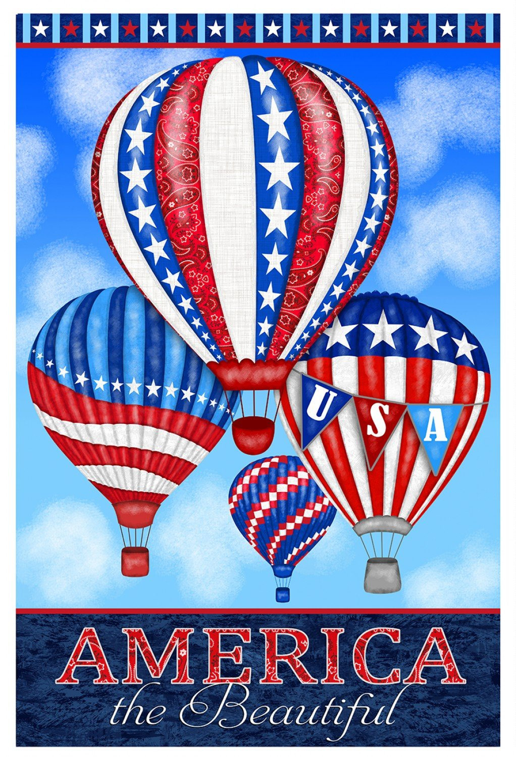 America the Beautiful panel by Studio E - only $8 for the pretty piece of art!