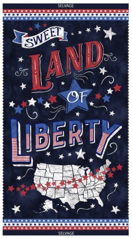 Sweet Land of Liberty is $8 by Timeless Treasures!