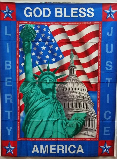 God Bless America Flag Panel by Concord Prints - only $6!