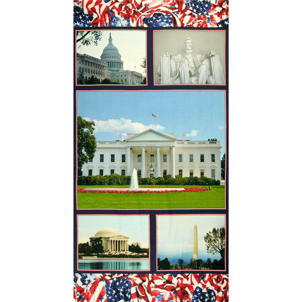 American Spirit - Welcome to Washington by Benartex. It's only $8!