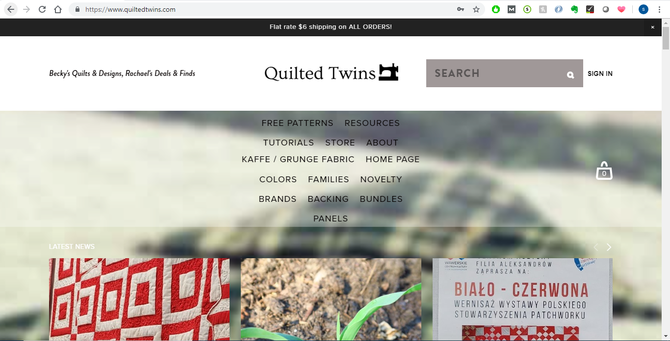Through typing www.quiltedtwins.com