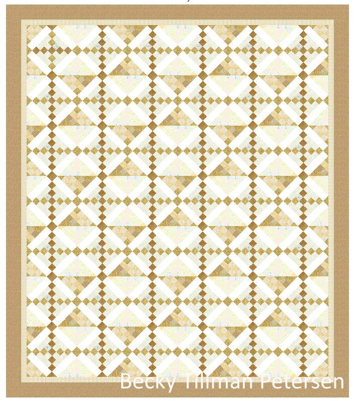 """How it should look in real life. It will be my first """"beige"""" quilt and I hope it has enough color for them!"""