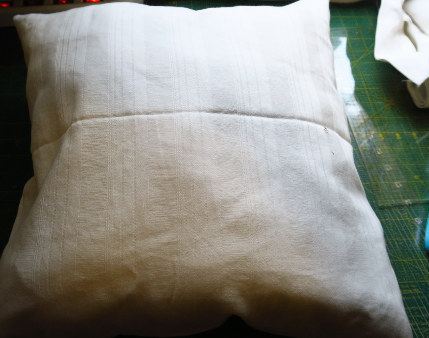 the pillow form - I wasn't entirely sure how much filling to put in.