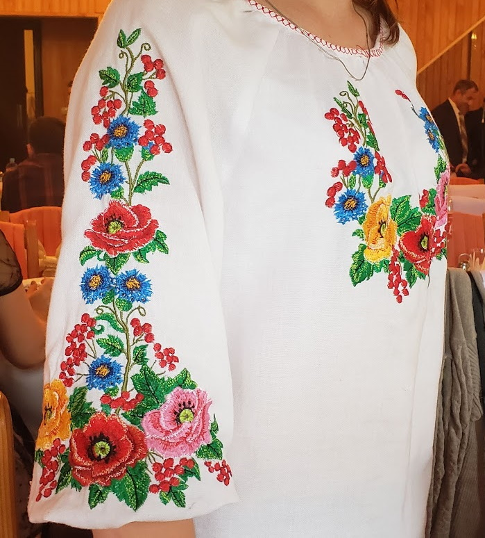 The embroidery was lovely - this was not just a stamped on design!