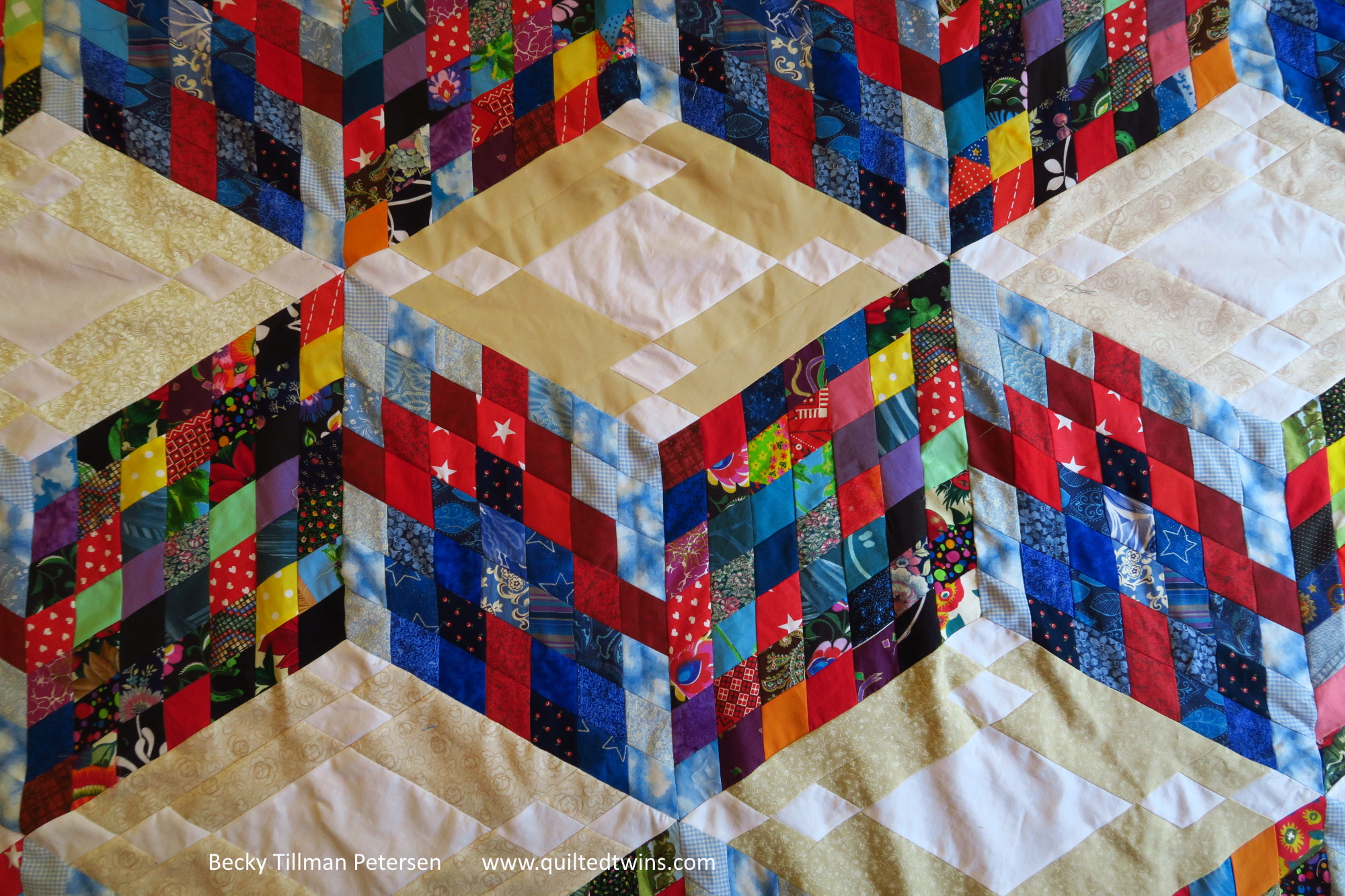 How am I going to quilt this one? At this point, I literally have no idea - none at all!
