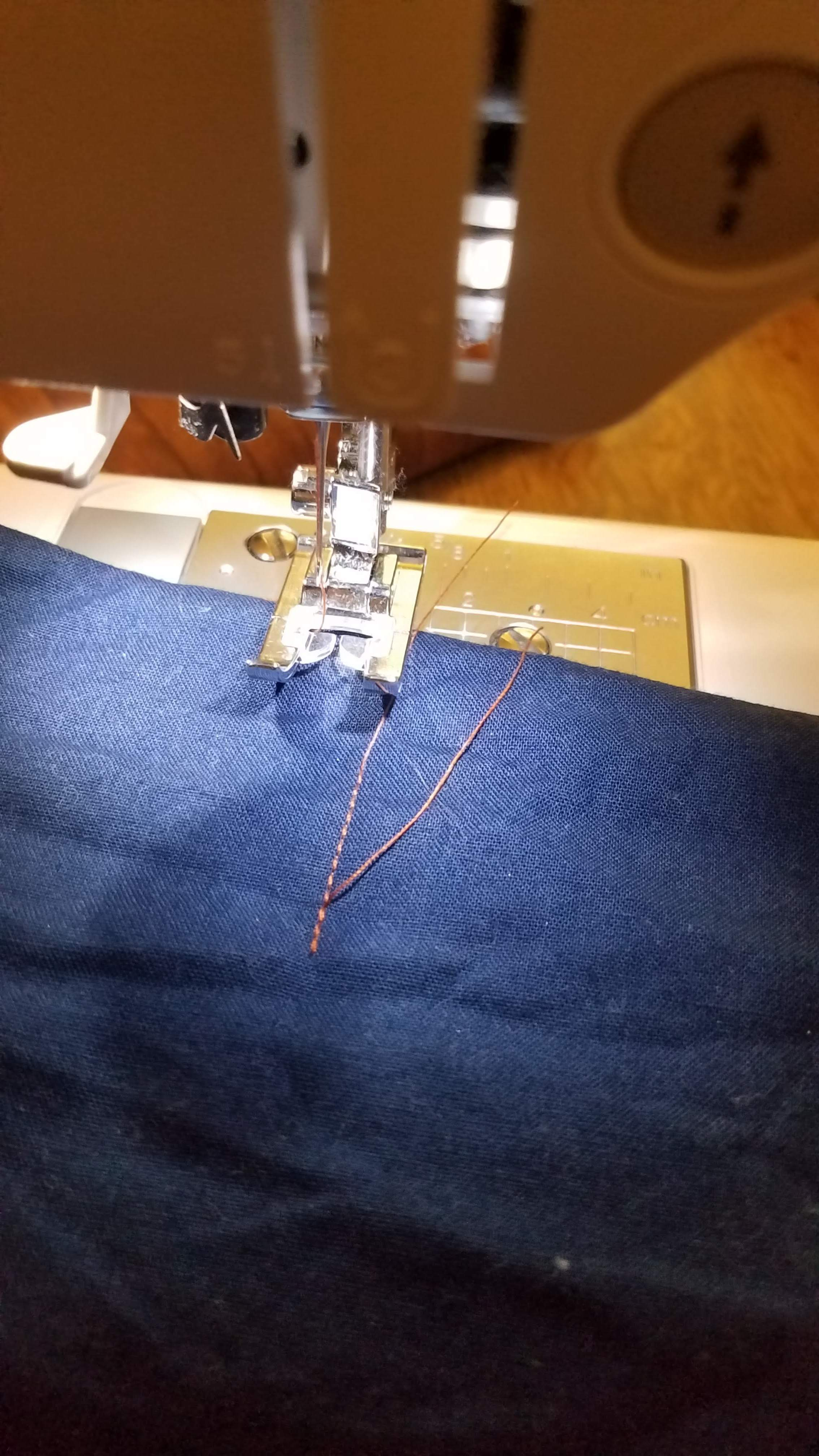 Test your tension - If you haven't sewn on your machine for a while.