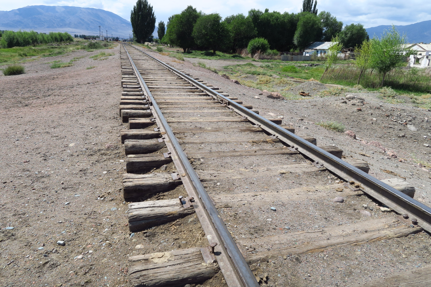 In this country the train tracks are wider than you are used to. The USSR uses wider tracks than the rest of us do.
