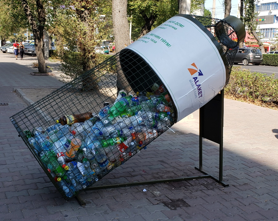 Recycling - while not very prevalent - is up and coming even here!