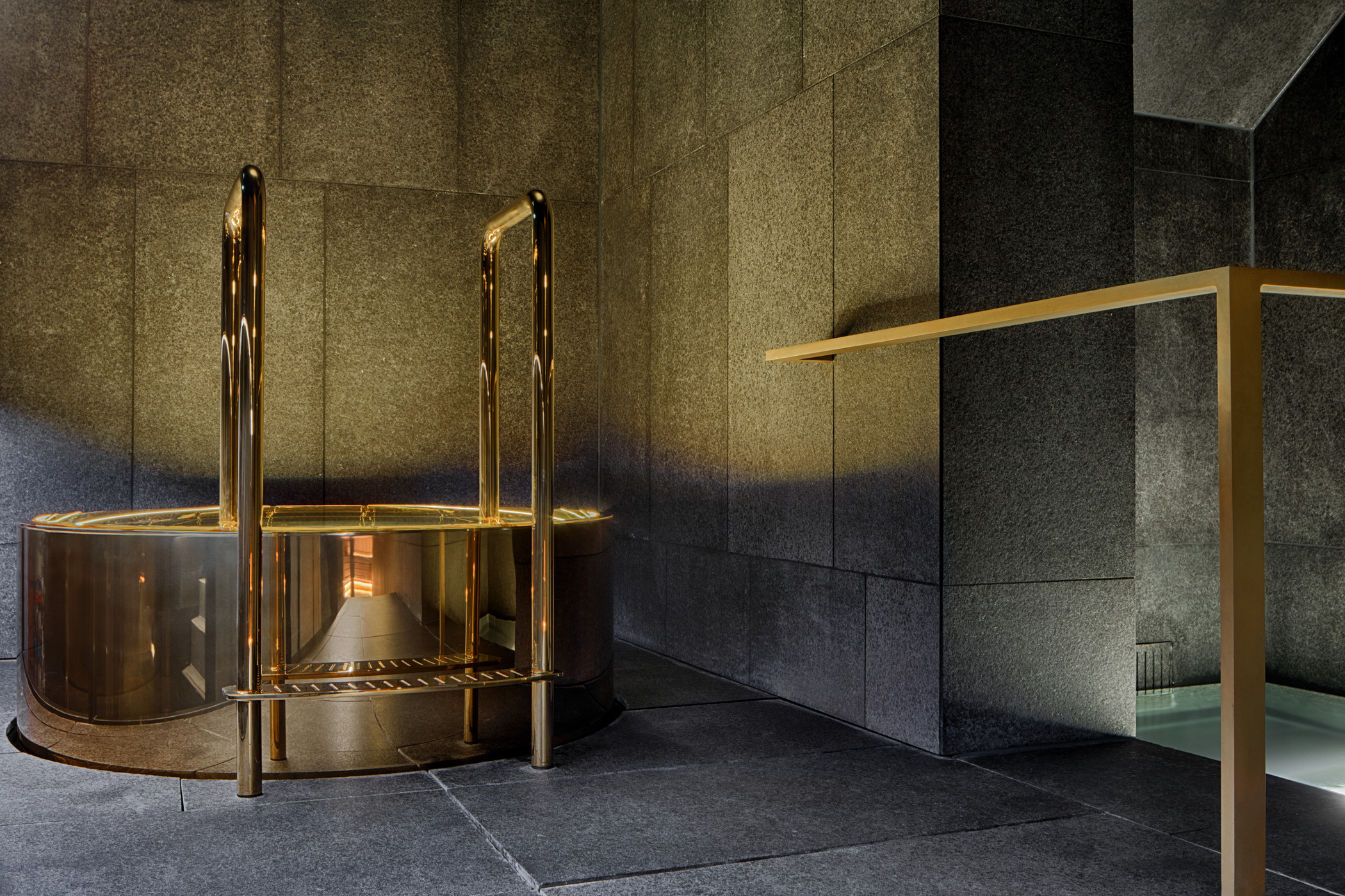 A spa fit for a bond villian. If your on business and in need of a steam/soak, look no further than the AWAY spa at the W Hotel  Read more here