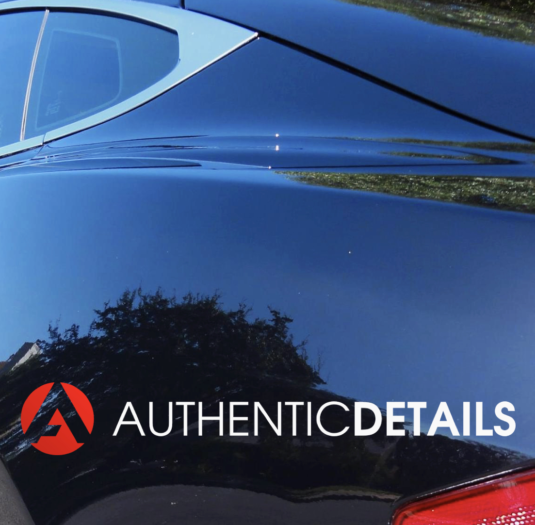 Tesla body line after paint correction and coating