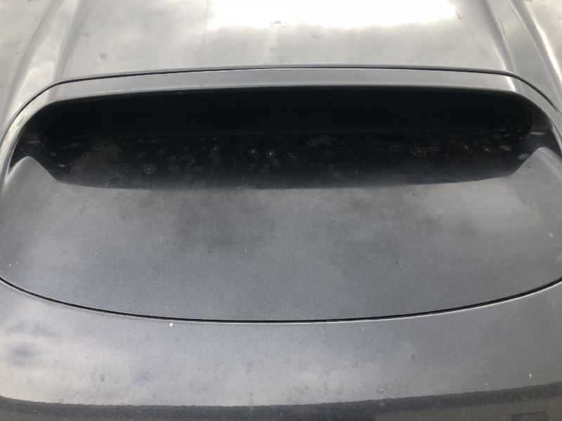 Subaru Hood Scoop with Oxidized/Early Stage Clear Coat Failure