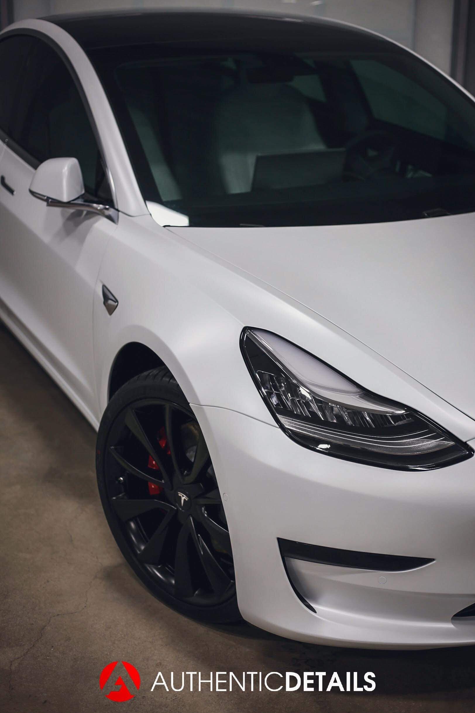 Matte Ppf Tesla Model 3 Authentic Details Austin