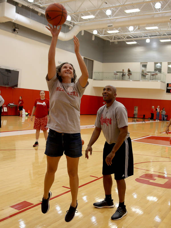 Inside the Huskers practice!