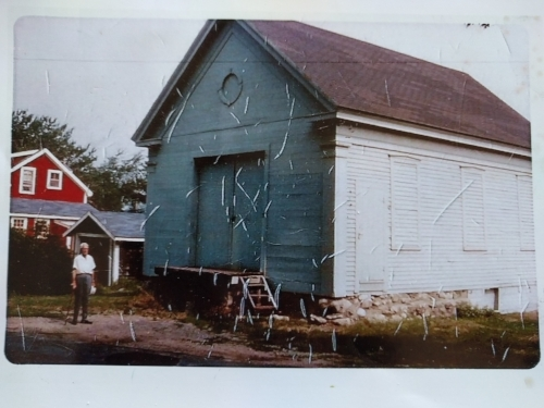The schoolhouse as it stood back in 1970...