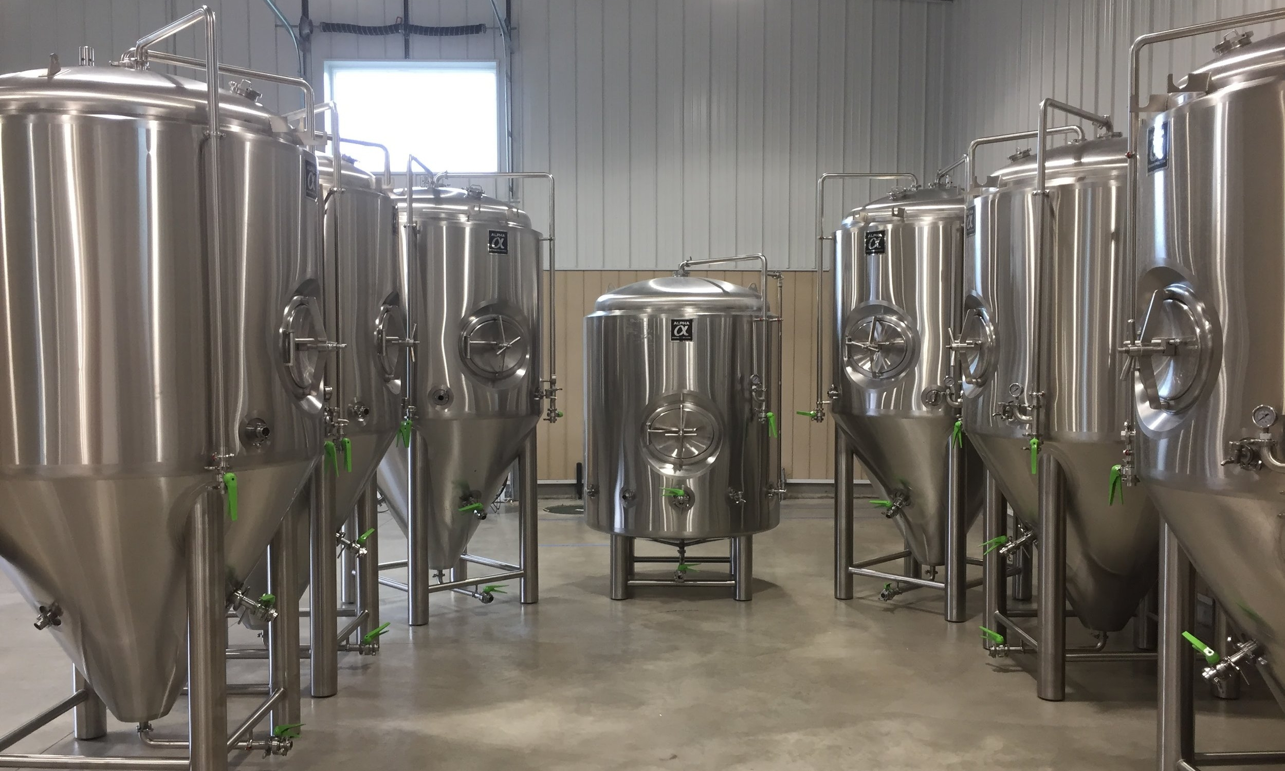 Shiny, shiny stainless steel.