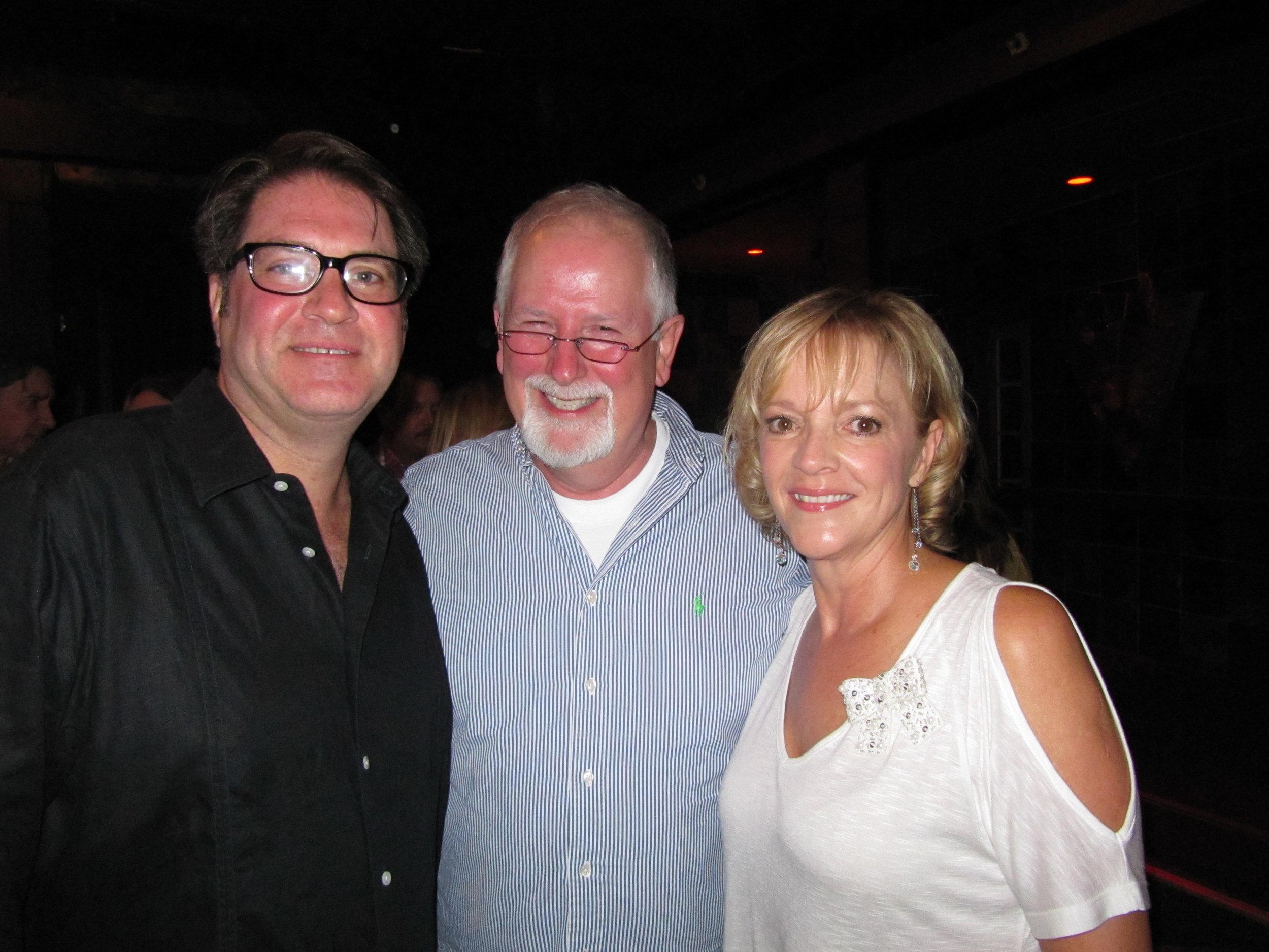 Arista New York pal Gary Hertz, Arista Nashville label head and mentor Tim DuBois & Ramona.JPG