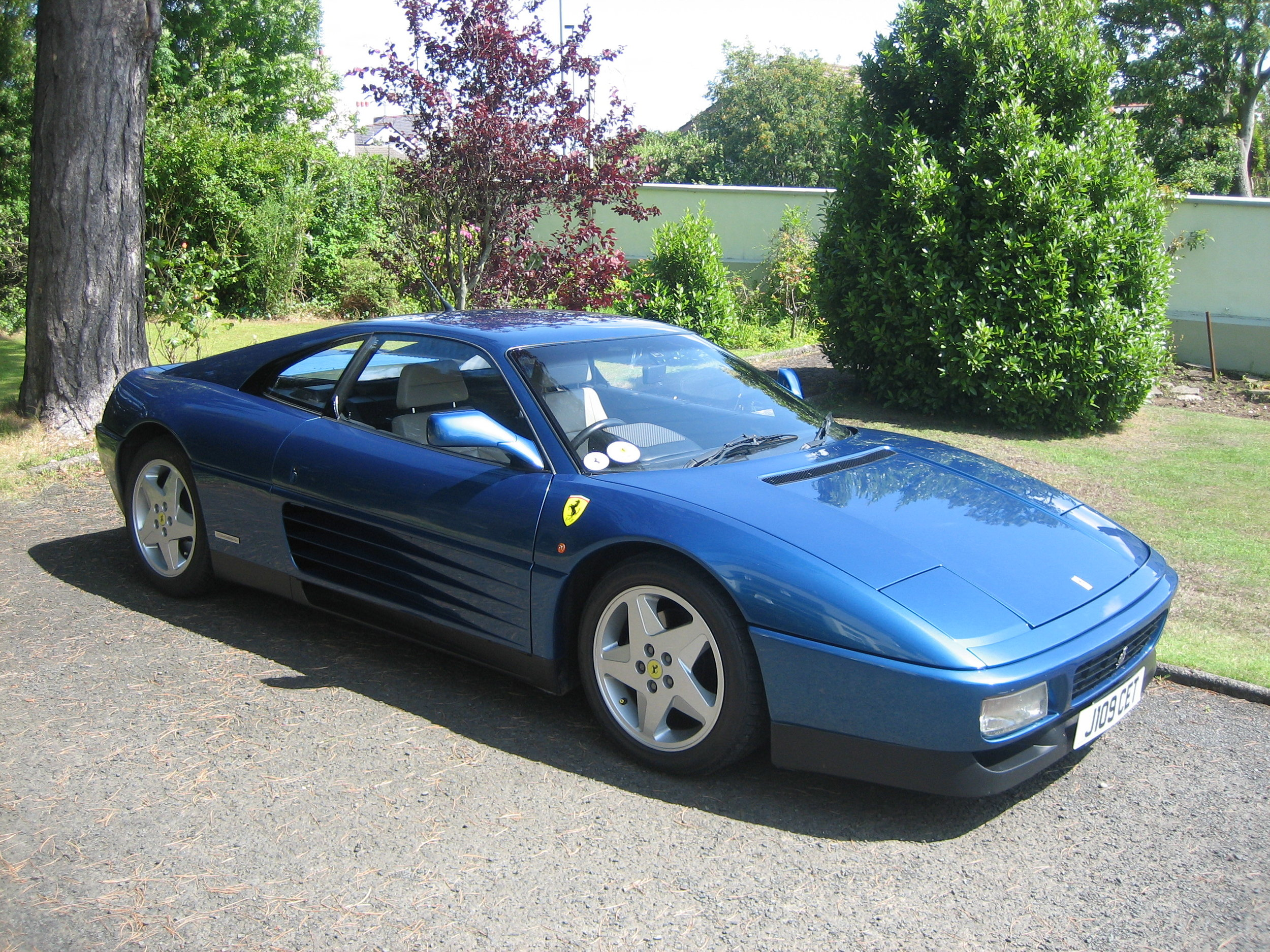 Blue Ferrari in N. Ireland ( if you know Preston well-you know the story!) .JPG