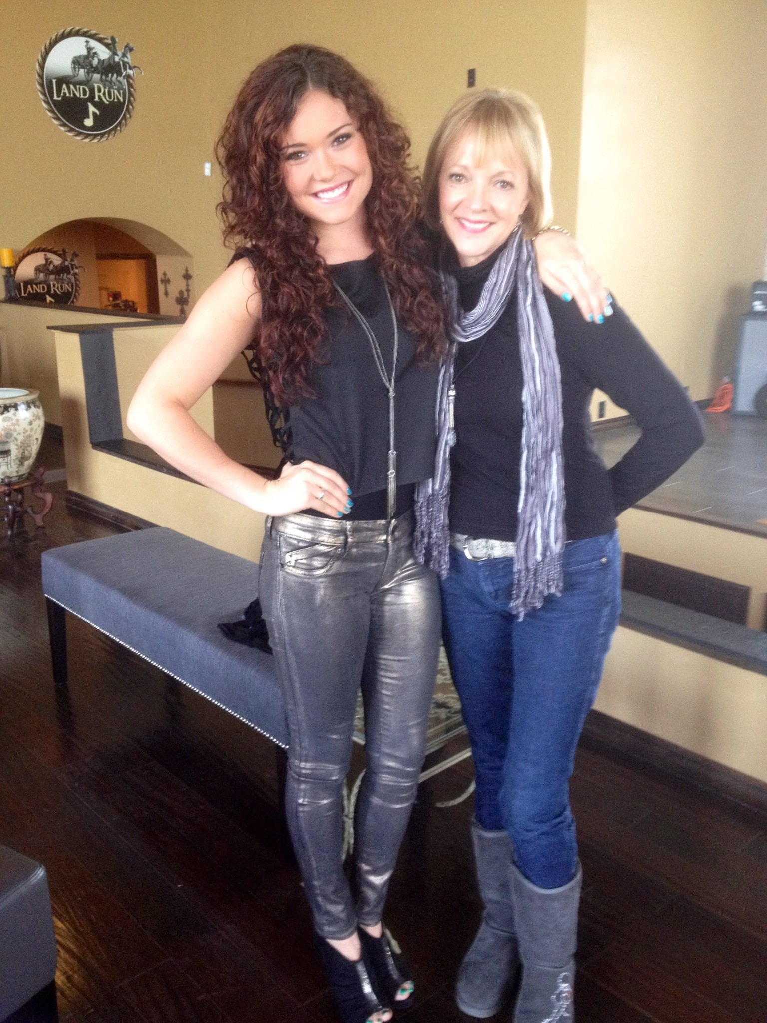 Ramona and awesome singer, songwriter,and friend Kylie Morgan (2).JPG