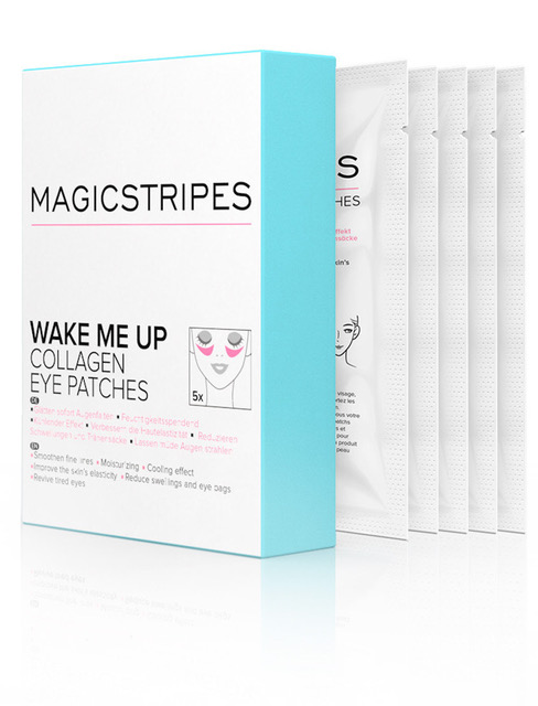 - I also refresh the under eye area with Magic Stripes Wake me up Collagen Eye Patches. Tell us the best makeup trick that you have learnt on the job. Put on the foundation AFTER doing the eye makeup. Especially if you're doing winged liner. This way, you can erase all your mistakes until it's perfect! It also allows you to wipe off any eye shadow that fell under your eyes.