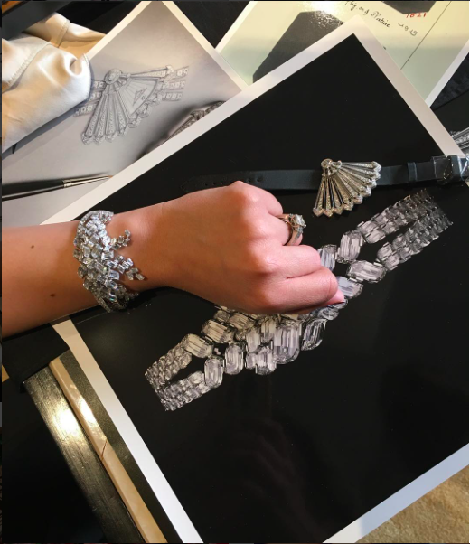 Trying on some diamonds with Vacheron Constantin.