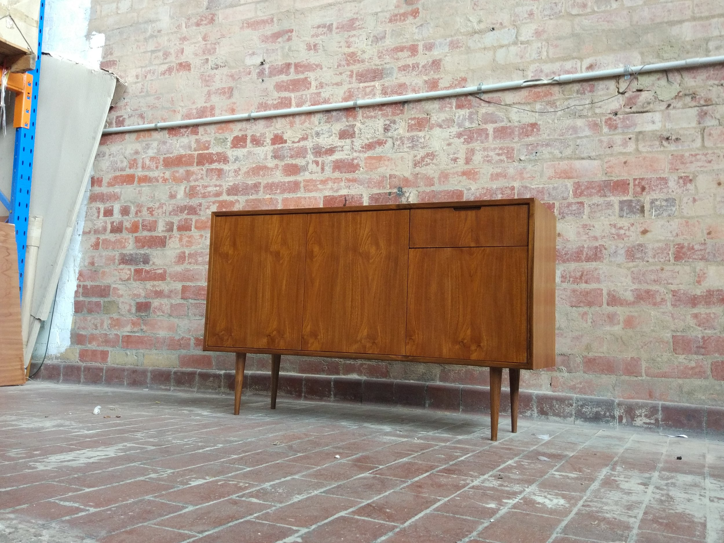POLISHED TEAK 2 DOOR CABINET