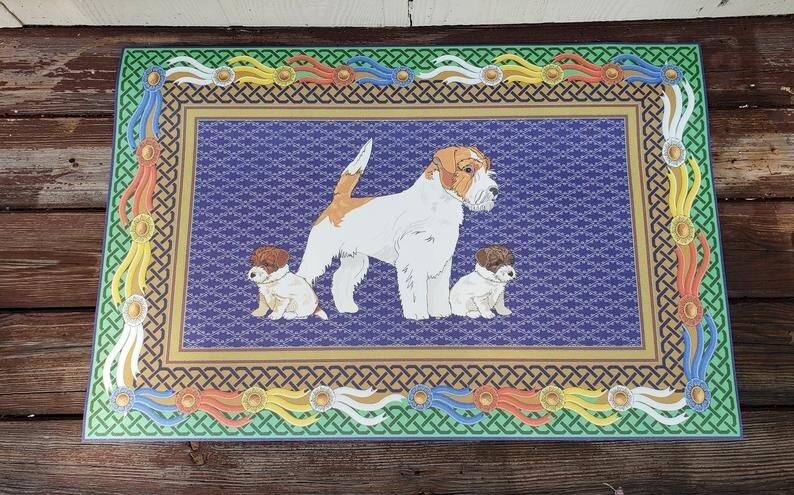 Russell Terrier Vinyl Floor Mat Door Mat 3.jpg