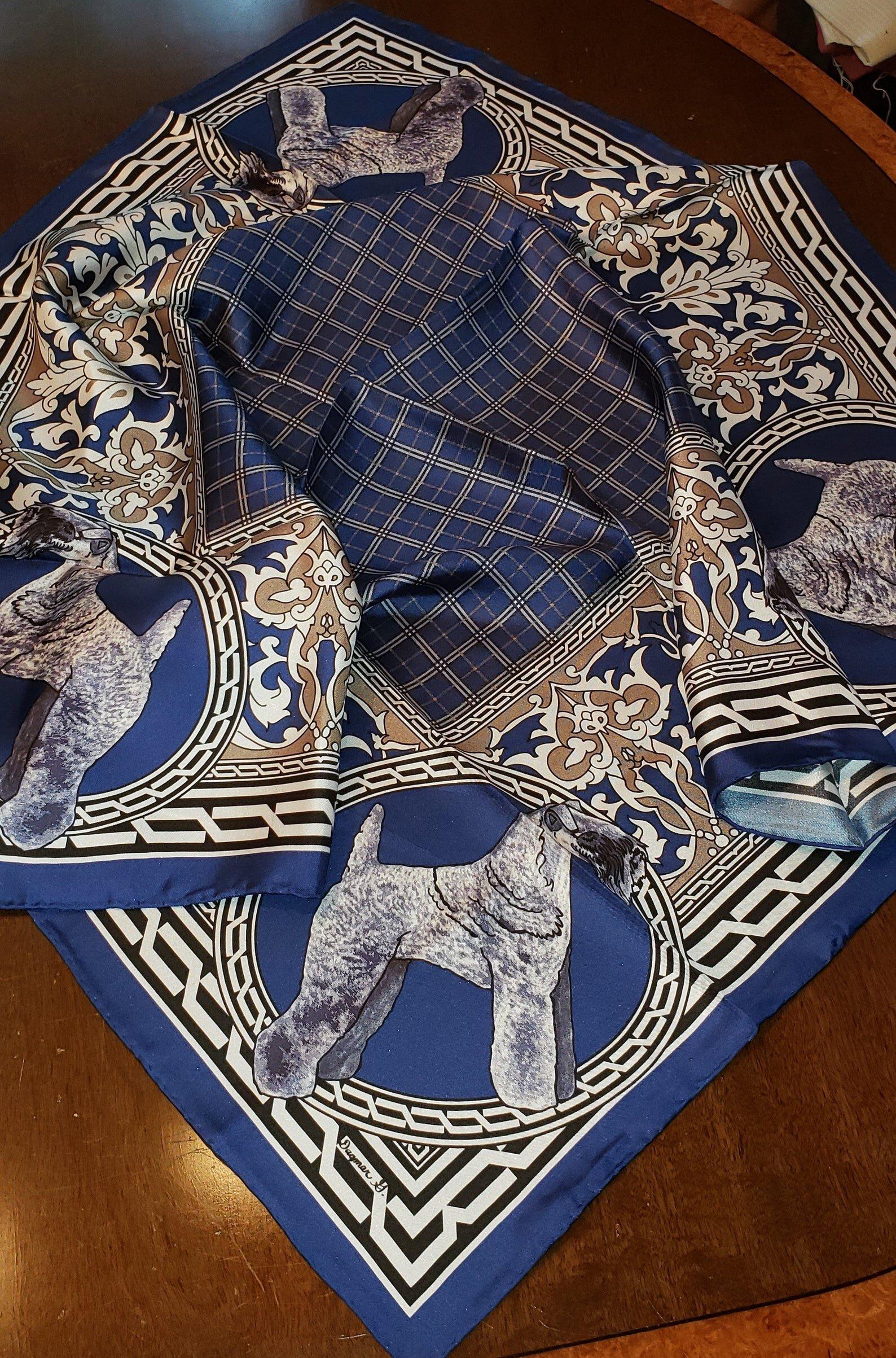 Kerry Blue Terrier Silk Scarf $90.00.jpg