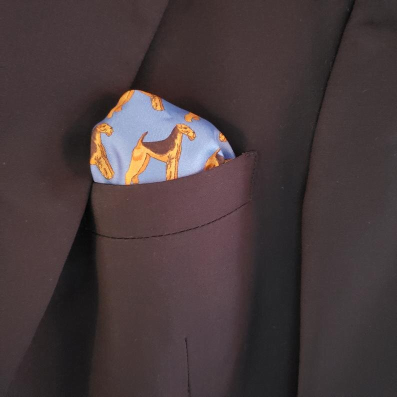 Silk Pocket Square for Men Airedale, Wire Fox, Smooth Fox and Lakeland Terriers 6.jpg