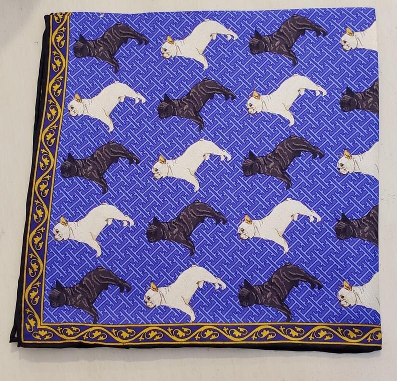 Silk Pocket Square For Men French Bulldog 4.jpg