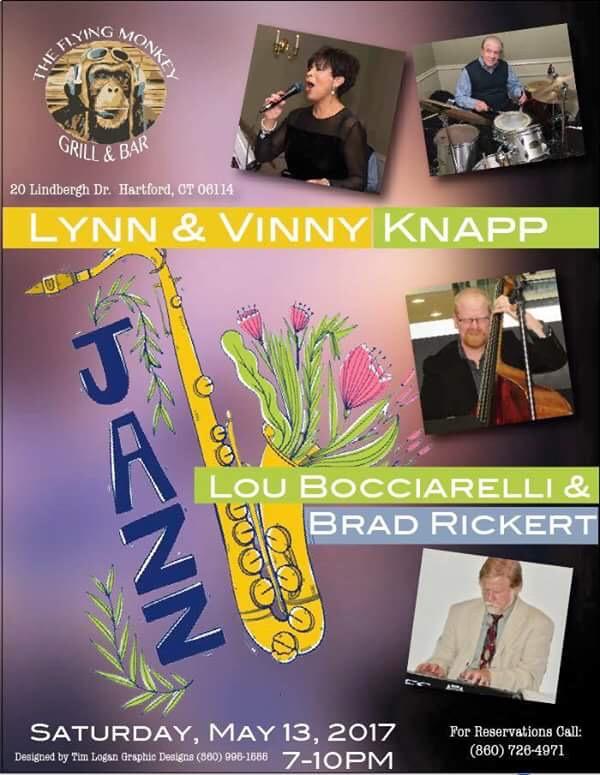 Lynn & Vinny Knapp, Lou Bocciarelli & Brad Rickert to accompany your Saturday evening meal.