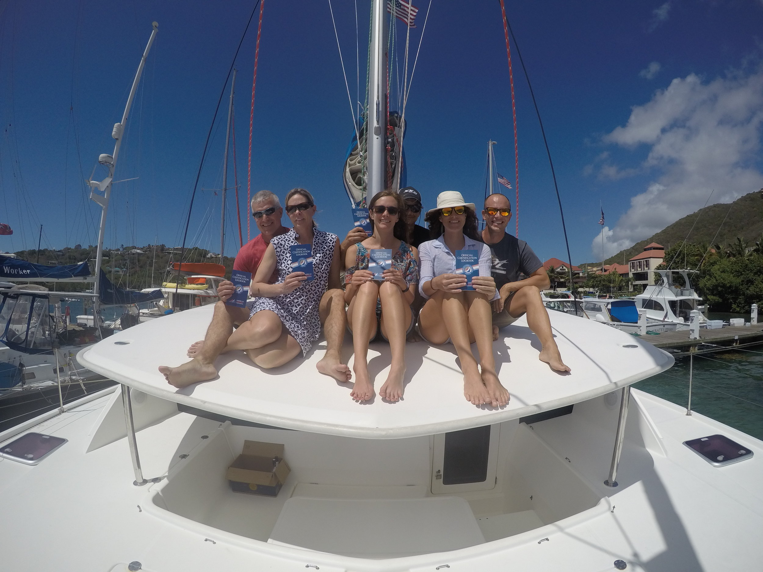 We all passed and are now certified to charter a catamaran.