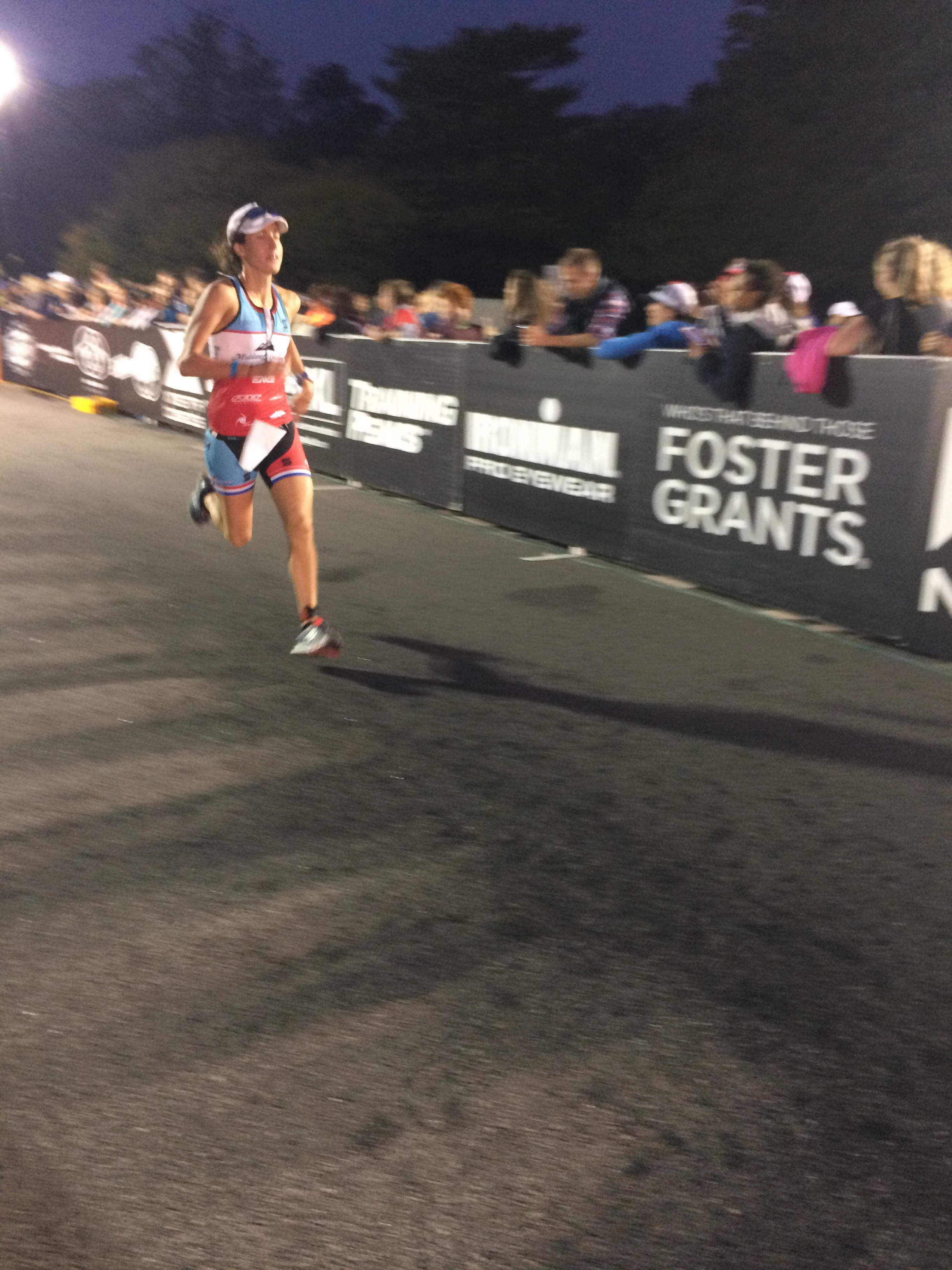 About to finish Ironman Maryland 2016 after 10 hours of exercising nonstop.